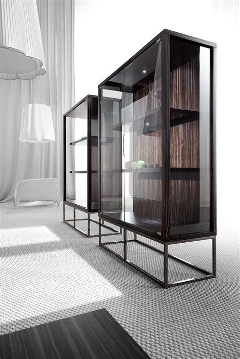 Cupboard Glass - pensami glass cabinet display cabinets from erba italia