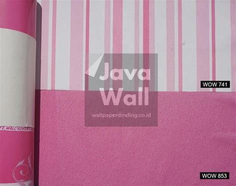 Wallpaper Dinding Garis Warna jual wallpaper dinding kamar anak wow 741 motif garis