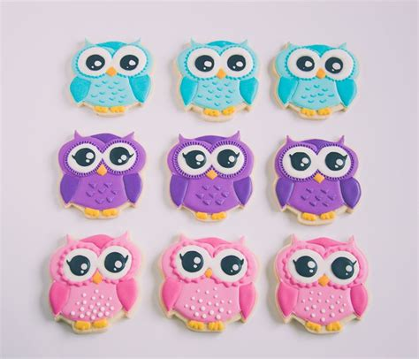 Owl Icing Decorations by Best 20 Owl Sugar Cookies Ideas On