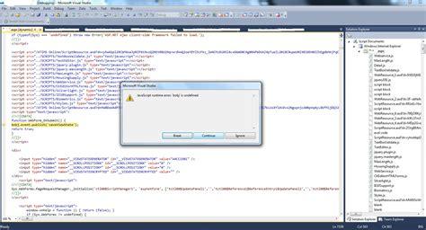 reports 13 bobj is undefined javascript error