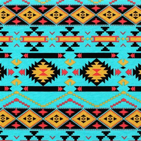 navajo pattern wallpaper mustard coral navajo on turquoise cotton jersey blend knit