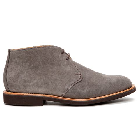 suede desert boots mcnairy suede desert boots in gray for grey lyst