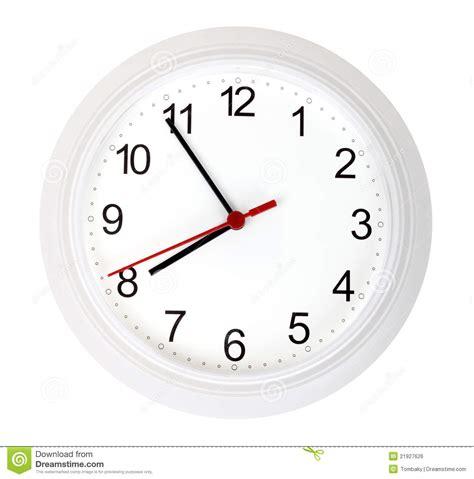 horloge blanche horloge simple blanche image libre de droits image 21927626