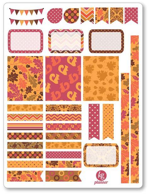 printable planner decorations autumn feelings decorating kit pdf printable planner