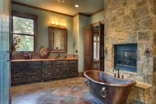 Log Cabin Master Bathrooms Indian Lakes Mountain Lodge Style Rustic Bathroom