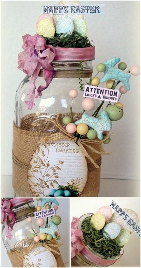 25 jar easter crafts for gifts home decor and more