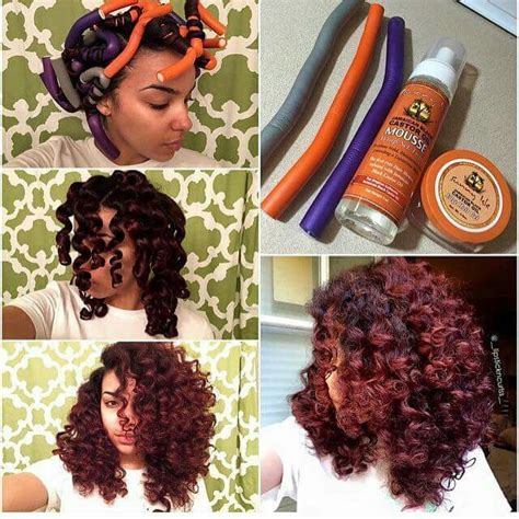 hairstyles with curling rods curl formers on natural hair natural hair styles