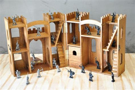 wooden toy castle  lindermanlane  etsy wooden toy