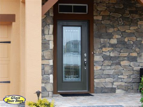 Single Glass Exterior Door Saratoga Front Door Glass Insert In Fiberglass Front Door