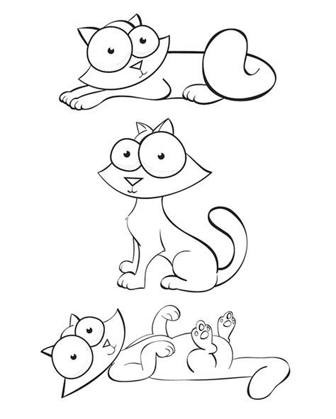 crazy cat colouring pages