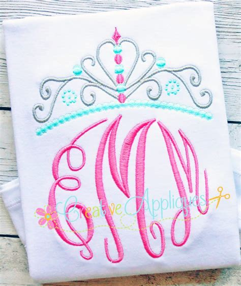 creative design and embroidery princess crown embroidery design creative appliques