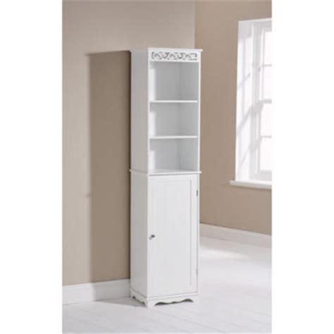 tall white bathroom cabinet mountrose scroll tall bathroom cabinet in white furniture123