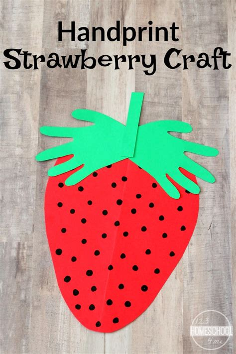 strawberry crafts for handprint strawberry craft