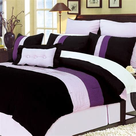 Home Design Down Alternative Full Queen Comforter by Purple Comforters Purple Comforter Sets Shop The Best