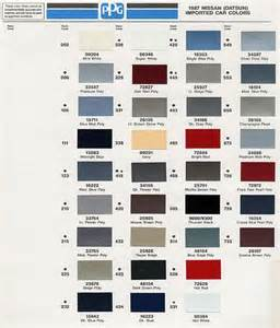 nissan color codes nissan s13 paint codes