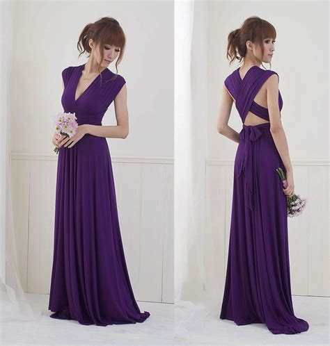 Bridesmaid Dress Material Names - plum purple infinity dress bridesmaids dress convertible
