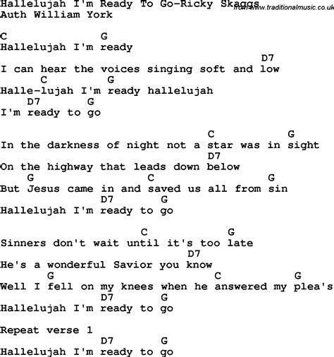 printable lyrics to hallelujah country southern and bluegrass gospel song hallelujah i m