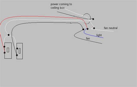 how to wire switch for ceiling fan and light