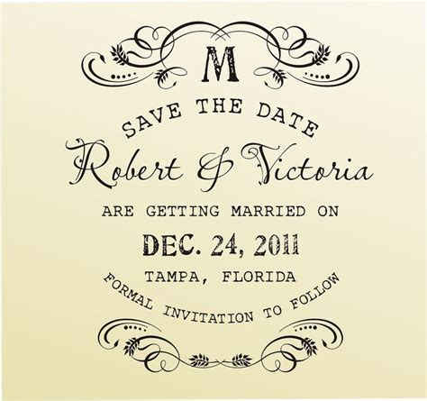 rubber st date font diy vintage save the date rubber st in typewriter font