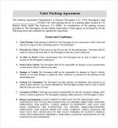 car park template sle parking agreement template 10 free documents in