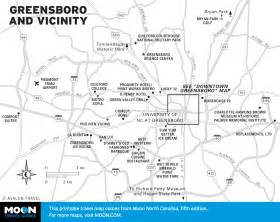 map of greensboro carolina map of greensboro and vicinity carolina