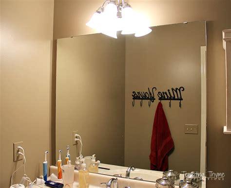 framing a builder grade bathroom mirror hometalk how to frame a builder grade bathroom mirror