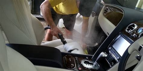 cleaning car seats upholstery car detailing interior steam cleaning ecospray car