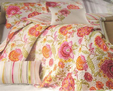 Cynthia Rowley Floral Quilt by New 3pc Cynthia Rowley Quilt Blanket Sham