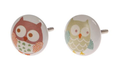 Childrens Door Knobs by Owls Painted Ceramic Door Knobs Childrens Nursery Bedroom