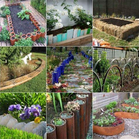 Easy Garden Edging Ideas 18 Gardening Bed Edging Ideas That Are Easy To Do