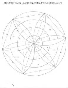 mandala template compass flower circles and lines
