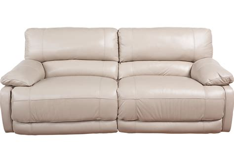 sofa power recliner home auburn taupe leather power