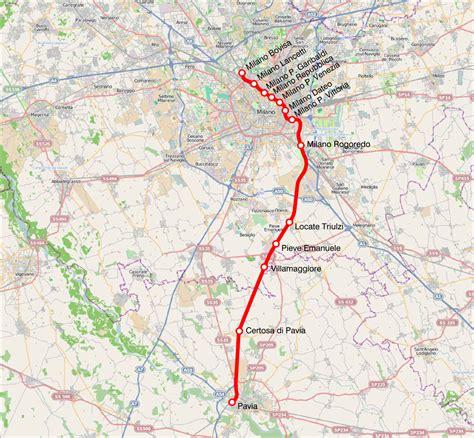 passante pavia line s13 milan suburban railway service