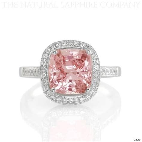 padparadscha sapphire engagement ring padparadscha sapphire and diamond ring rings pinterest