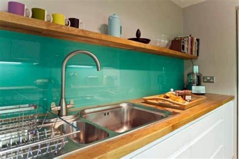 Blue Glass Kitchen Backsplash 30 interior design ideas for kitchen glass back wall
