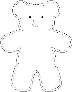 Sample Teddy Bear Template   wikiHow    DIY Proj