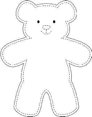 Galerry coloring page of a teddy bear