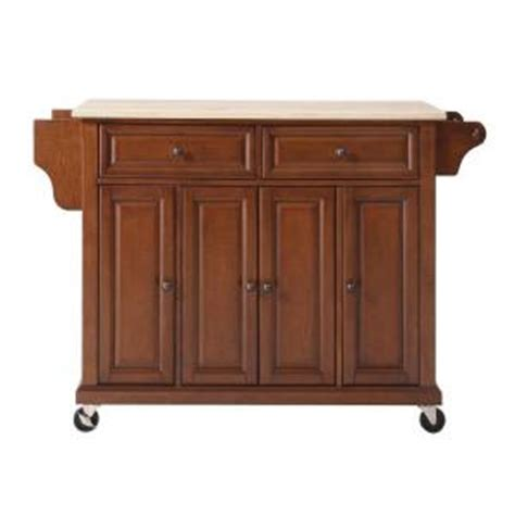 cherry kitchen island cart crosley 52 in wood top kitchen island cart in