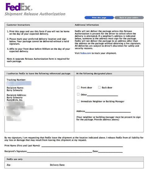 fedex signature release form 28 images fedex door tag