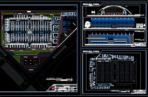 food market dwg section  autocad designs cad