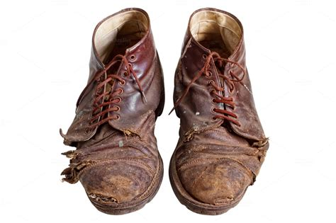 worn out worn out boots isolated fashion photos on