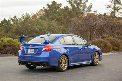 blue subaru gold driven 2015 subaru wrx sti is for adrenaline junkies ny