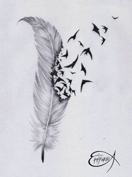 feather with birds flying out tattoo top 25 best feather with birds ideas on