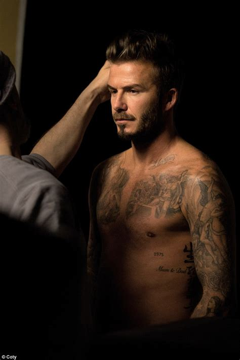 shirtless david beckham shows off his physique for new