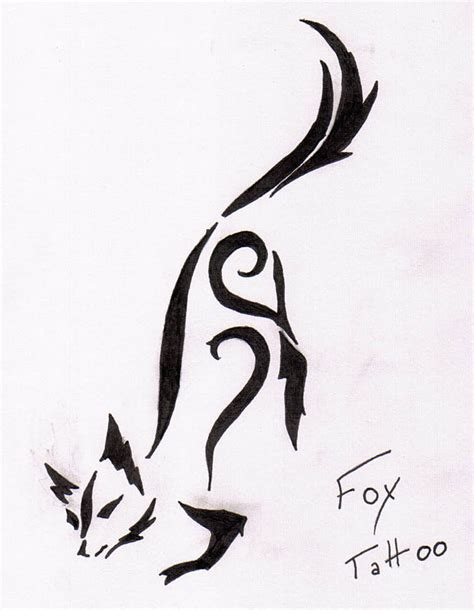 tribal fox tattoo designs tribal fox designs www imgkid the image kid