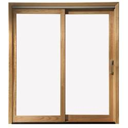 Wood Sliding Glass Doors Shop Pella 450 Series 71 25 In Clear Glass White Wood Sliding Patio Door At Lowes