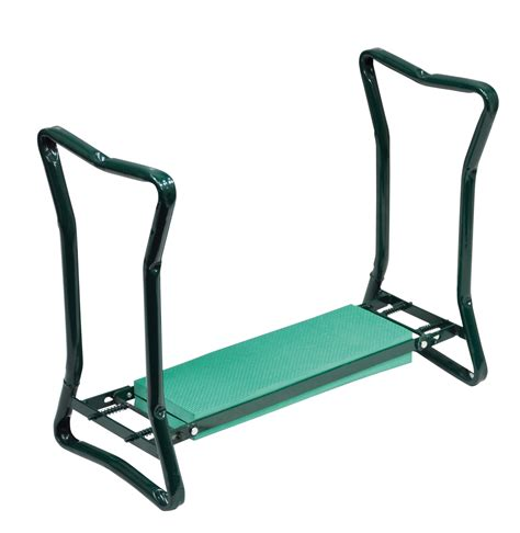 gardening bench kneeler folding garden kneeler and bench seat multi use side