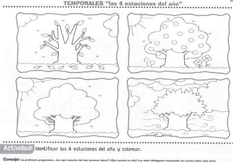 imagenes para colorear las estaciones del año las cuatro estaciones atividades educativas