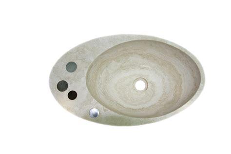 lavello travertino lavello ovale in travertino con decoro