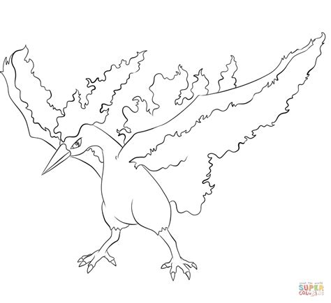 pokemon coloring pages moltres moltres coloring page free printable coloring pages